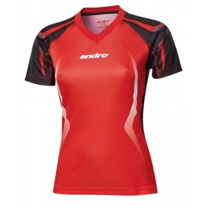 Футболка Andro NETIS женская красно-черный
