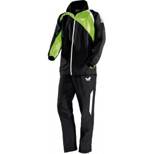 Спортивный костюм Butterfly PASSO черный-зеленый