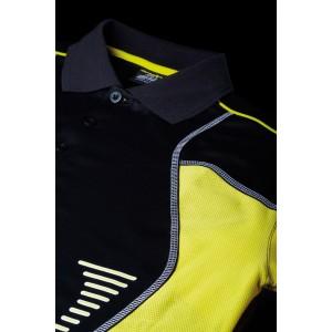 Футболка  Andro LASCA женская чёрный жёлтый