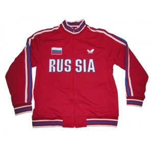 Толстовка Butterfly сборной RUSSIA красный