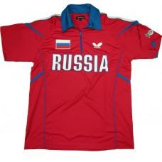 Футболка Butterfly сборной RUSSIA '14 красный