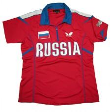 Футболка Butterfly сборной RUSSIA '14 женская красный