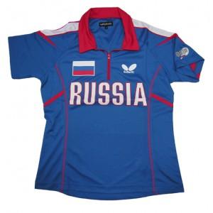 Футболка Butterfly сборной RUSSIA '14 женская синий