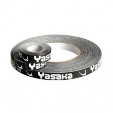 Торцевая лента на ракетку Yasaka  12мм белая / черная