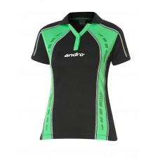 Футболка Andro MAGO женская черный зеленый