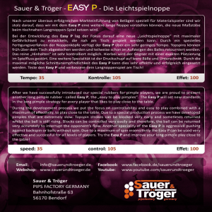 Накладка Sauer&Troger EASY P