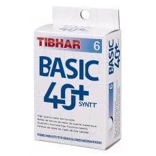 Tibhar Мячи пластиковые BASIC SYNTT 40+ 6 шт.