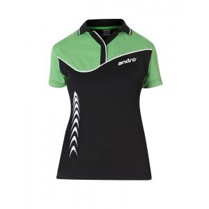 Футболка Andro BRENDAN женская черный зеленый