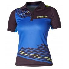 Футболка Andro LUKE женская синий черный