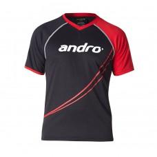 Футболка Andro DILLON черный красный