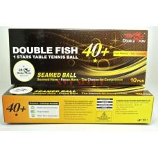 Double Fish Мячи пластиковые  * 40+ 10 шт. белые