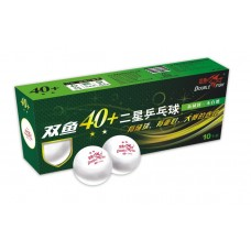 Double Fish Мячи пластиковые  ** 40+ 10 шт. белые