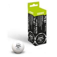 GEWO Мячи пластиковые ULTRA SLP *** 40+ 3 шт. белые