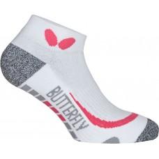 Носки Butterfly SNEAKER HISA короткие белый розовый 45-47 (XL)