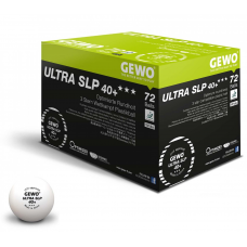 GEWO Мячи пластиковые ULTRA SLP *** 40+ 72 шт. белые