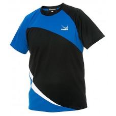 Футболка Yasaka OBLICK черный голубой 3XS