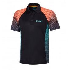Футболка Andro MARLEY черный оранжевый 2XL