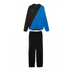 Спортивный костюм VICTAS 111 черный-синий 2XS