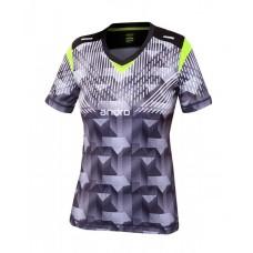 Футболка Andro DOYLE женская черный салатовый 36