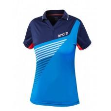 Футболка Andro HARRIS женская синий голубой 42