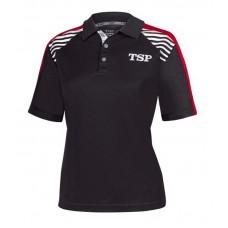 Футболка-поло TSP KUMA  женская черный красный XS