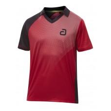 Футболка Andro CAMPELL  черный красный 2XS
