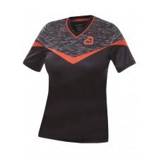 Футболка Andro TESLIN женская черный красный 34
