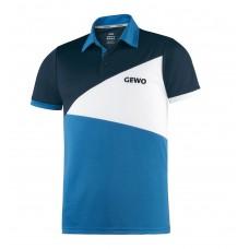 Футболка-поло GEWO ANZIO голубой синий (хлопок) XS