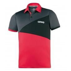 Футболка-поло GEWO ANZIO серый красный (хлопок) XS