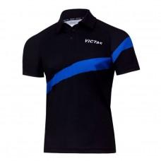 Футболка VICTAS V-SHIRT 215 черный голубой 3XS