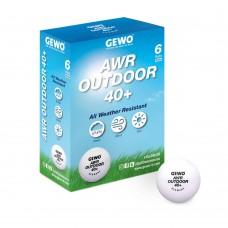 GEWO Мячи пластиковые AWR OUTDOOR 40+ 6 шт. белые
