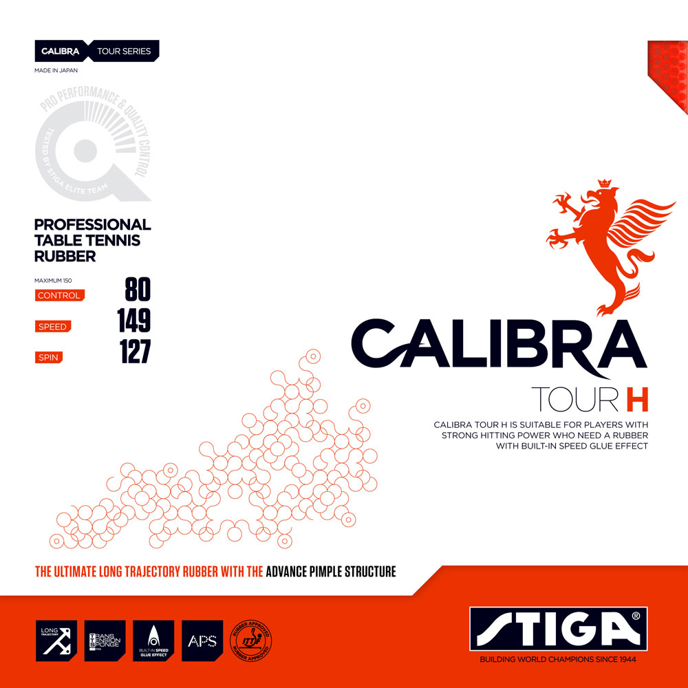 Накладка Stiga CALIBRA TOUR H 1,9 красная