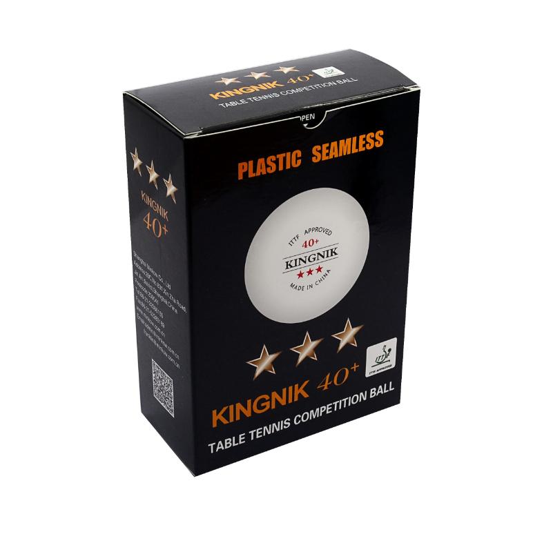 KINGNIK Мячи пластиковые  *** 40+ 6 шт. белые