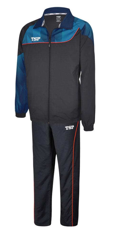 Спортивный костюм TSP HIKARI черный синий 3XS
